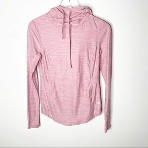 X By Gottex Pink Pullover Hoodie Sweatshirt Small